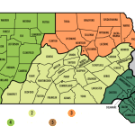 Map of the Five Culinary Regions of Pennsylvania