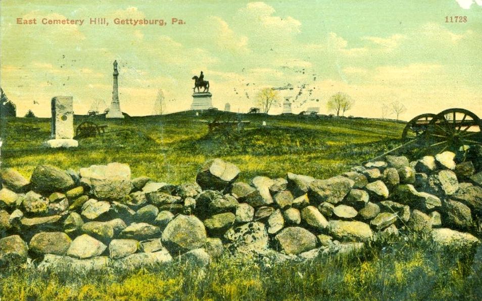 East Cemetery Hill, Gettysburg Vintage Postcard