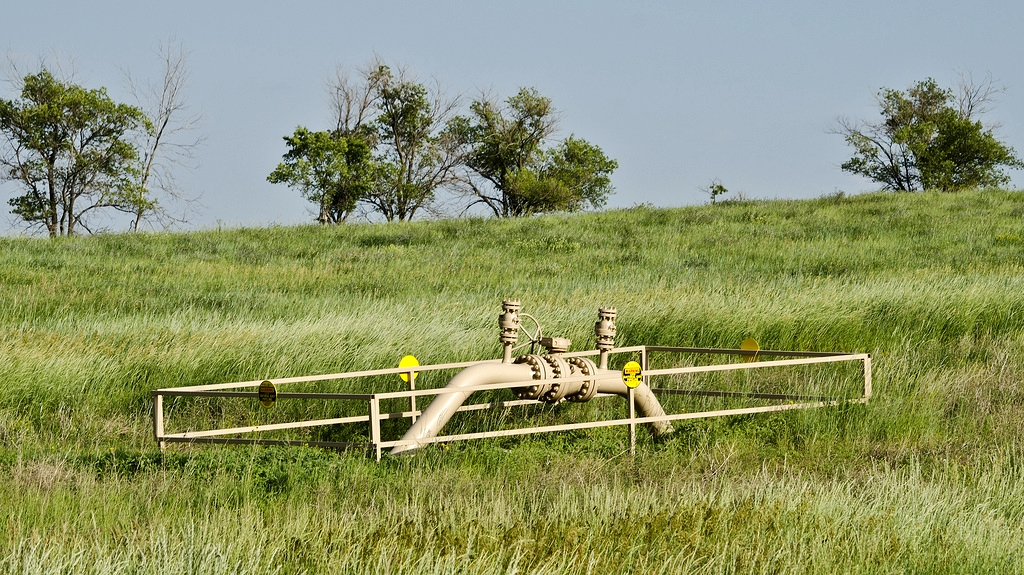 A natural gas pipeline valve - Photo by Tim Evanson