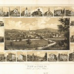Historic 1852 Bird's Eye View Map of York, PA