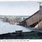 Columbia-Wrightsville Bridge Destroyed by Hurricane September 29, 1896
