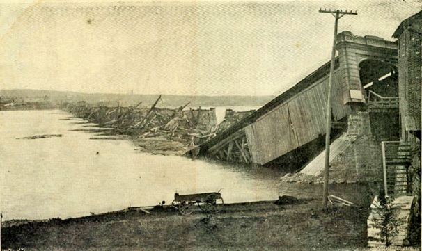 Columbia-Wrightsville Bridge Destroyed by Hurricane, September 29,1836