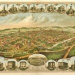 Historic 1879 Bird's Eye View Map of York, PA