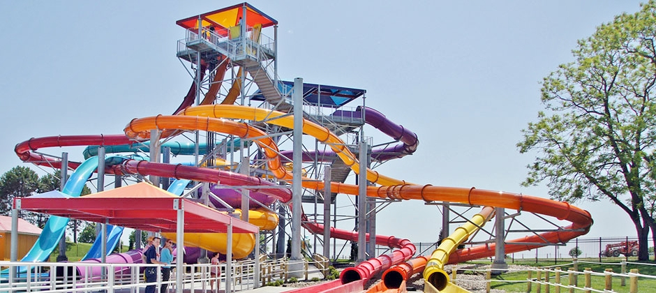 The Snake Pit water slide at Dorney Park's Wildwater Kingdom