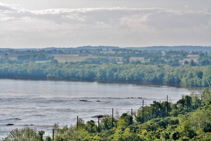View looking north from the Breezy View overlook on the Susquehanna River - Photo by visitpadutchcountry.com
