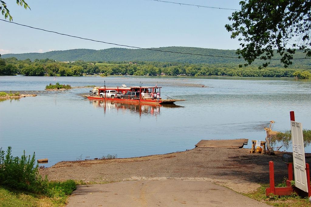 Millersburg Ferry Crossing the Susquehanna River