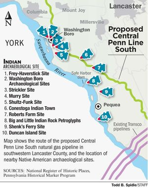 Proposed pipeline in Lancaster County, PA