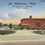 Modernaire Motel, York PA Vintage Postcard
