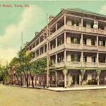 National Hotel, York PA Vintage Postcard