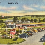 Playland, York PA Vintage Postcard