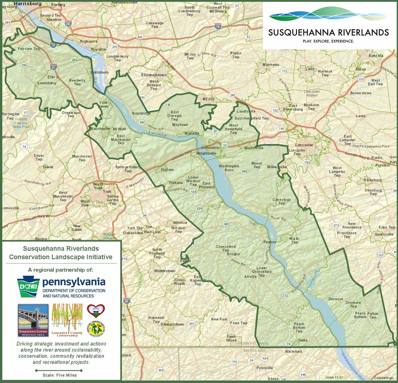 Susquehanna Riverlands Map