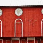 Pennsylvania Dutch star barns glitter in winter