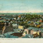 Vintage Postcard Bird's Eye View Of Reading, PA