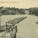 VIntage Postcard At Rib's Lock, Schuylkill River Near Reading PA
