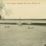 Vintage Postcard Leiz's Covered Bridge, Schuylkill River Near Reading PA
