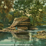Vintage Postcard Along The Maiden Creek Above Berkley, Reading PA