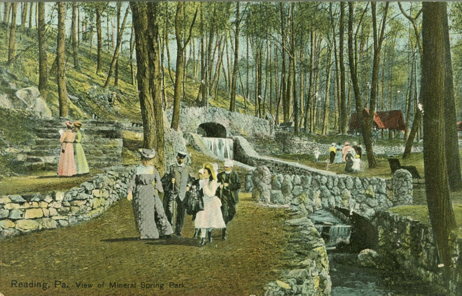 Vintage Postcard View of Mineral Spring Park, Reading PA