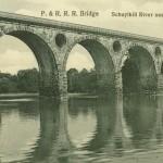 Vintage Postcard P. & R.R.R. Bridge, Schuylkill River Near Tuckertown PA