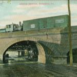 Vintage Postcard Askew Railroad Bridge, Reading PA