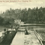 Vintage Postcard Approaching The Lock, Schuylkill River, Reading PA