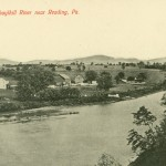 Vintage Postcard View Along Schuylkill River Near Reading, PA