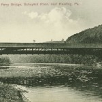 VIntage Postcard Stoudt's Ferry Covered Bridge, Schuylkill River, near Reading PA