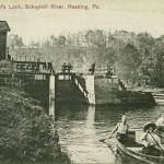 VIntage postcard Wentzel's Lock, Schuylkill River, Reading PA
