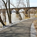 PHOTOS | Shocks Mill Bridge Bike Path Flooded
